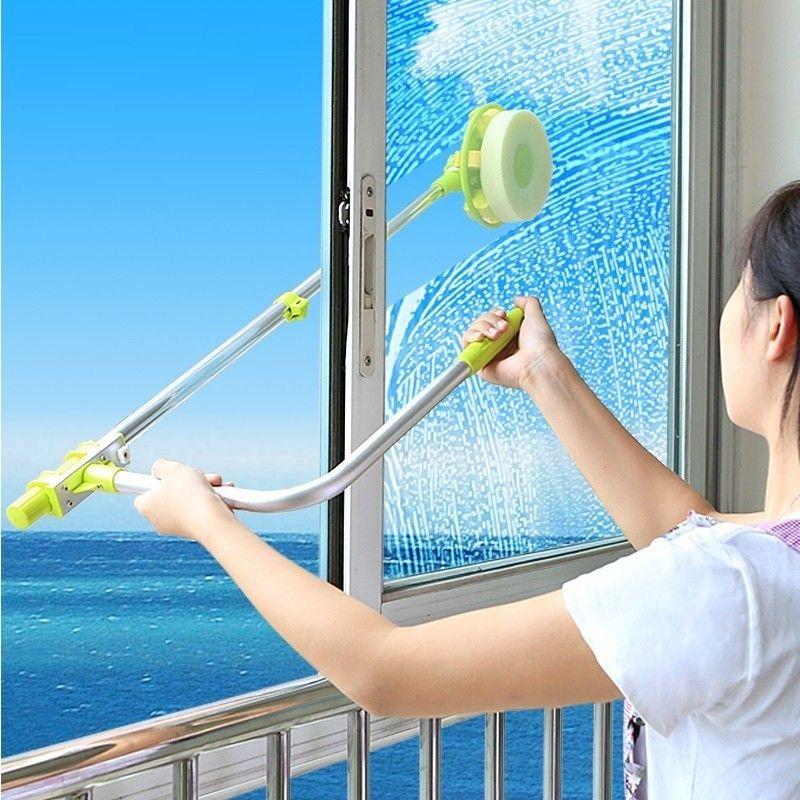 Швабра телескопическая для мытья окон снаружи